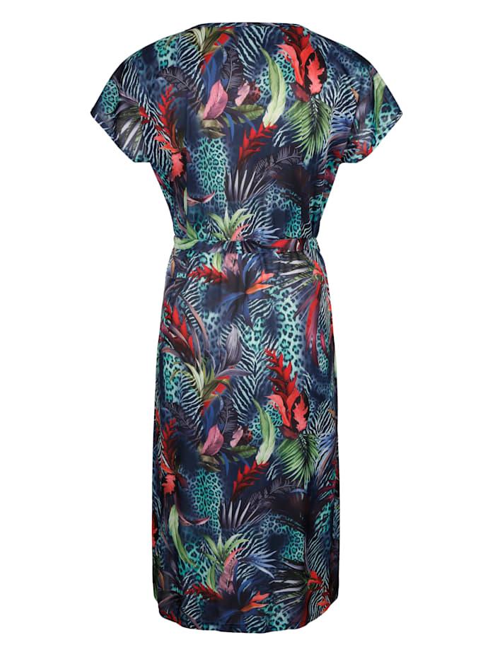 Klänning med blommigt mönster