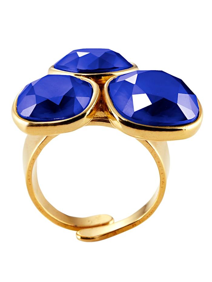 STILOMIO Ring, Gelbgoldfarben