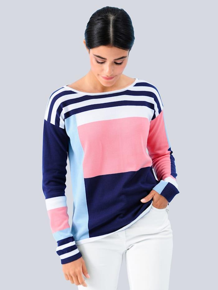 Pullover allover in schönen Farben