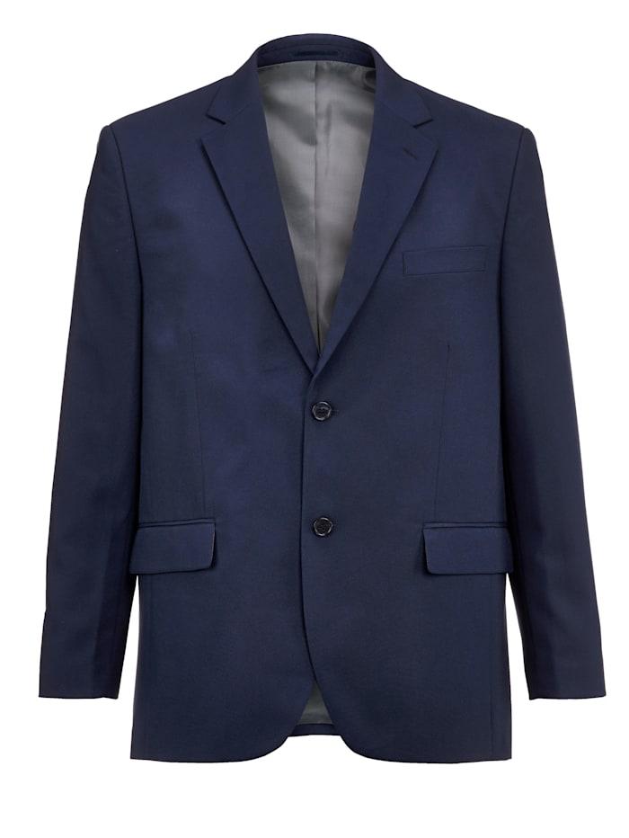 Men Plus Veste de costume de coupe spéciale ventre, Bleu foncé