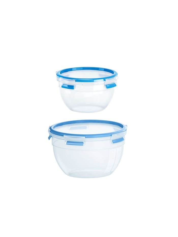 EMSA 2er-Set Frischhaltedosen Clip   Close, Transparent, Blau