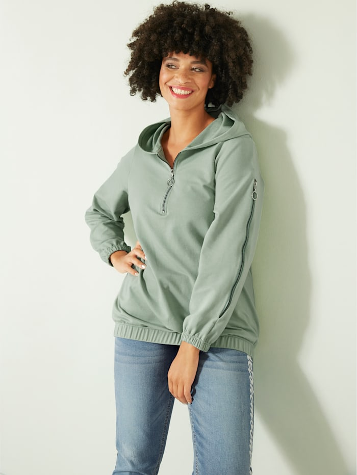 Angel of Style Sweatshirt mit Kapuze, Jade