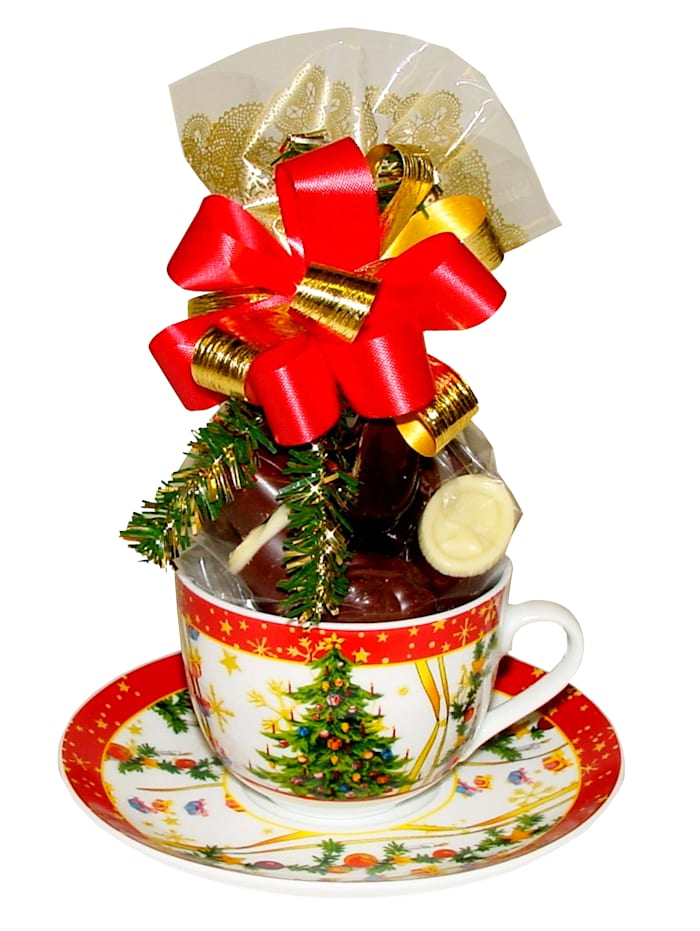 Pfeiffer & Sperl Kerstservies, rood