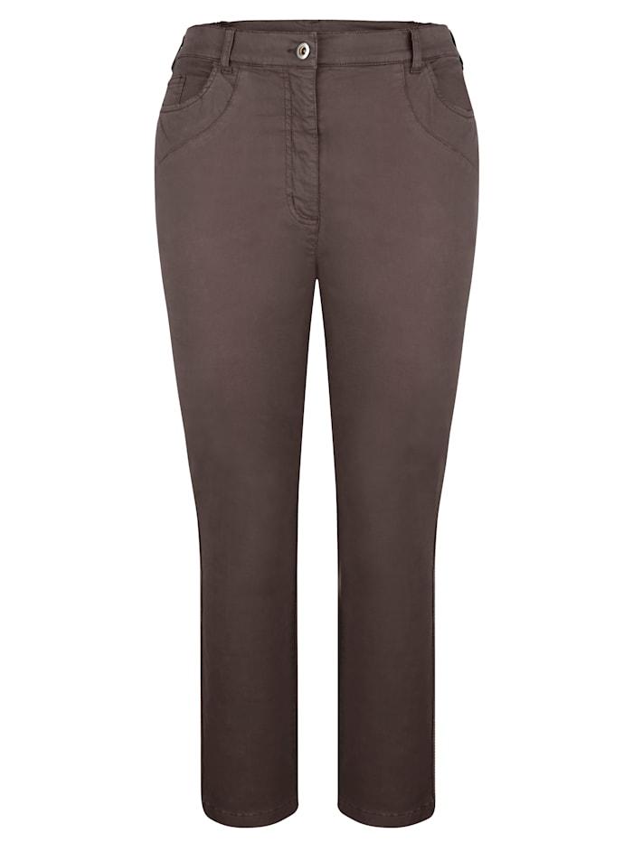 MIAMODA Bukse med beltehemper, Brun