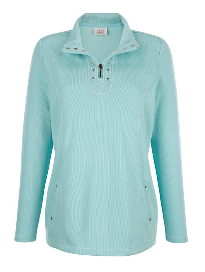 Paola Sweatshirt met klinknageltjes, Lichtblauw