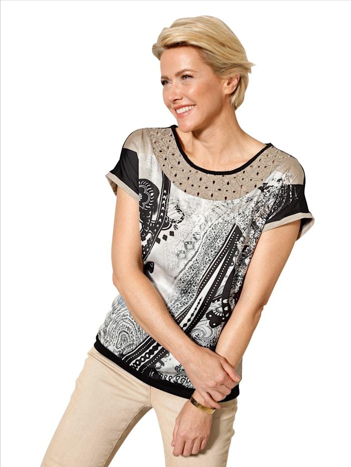 Shirt mit dekorativer Lochstickerei
