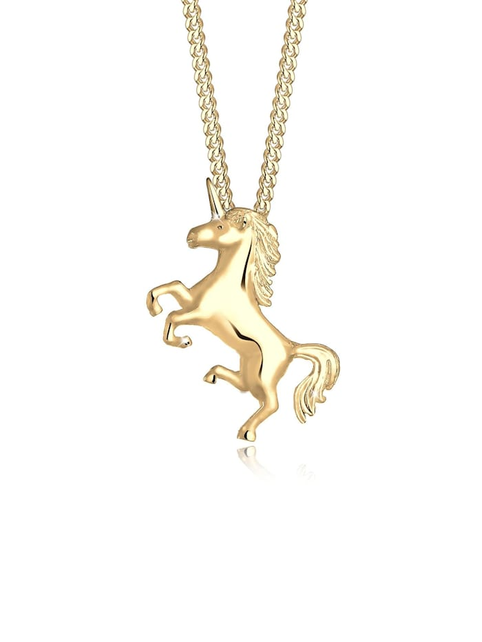 Elli Halskette Einhorn Unicorn Magic 925 Sterling Silber, Gold