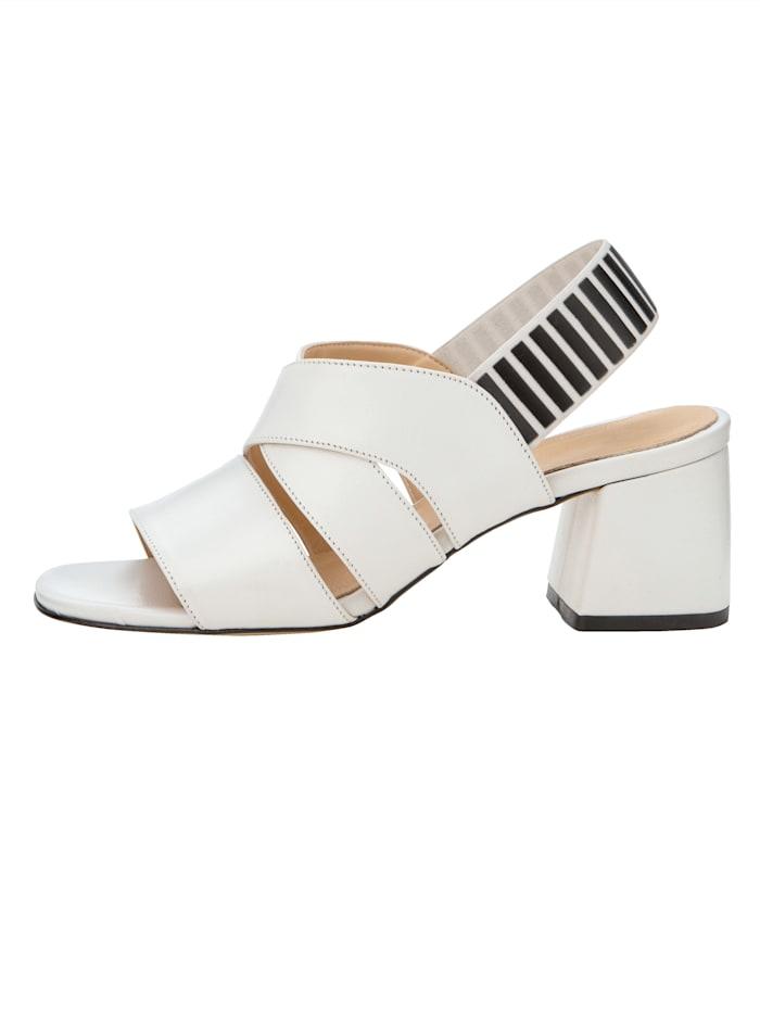 Sandaletter med elastisk hälrem