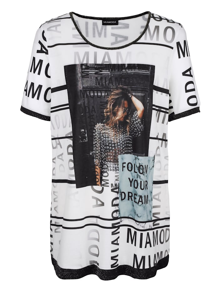 Dlouhé tričko s módním potiskem