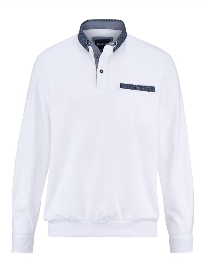 BABISTA T-shirt en pur coton à base resserrée, Blanc