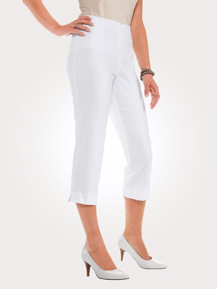 MONA 7/8 Hose mit Baumwolle Basic, Weiß
