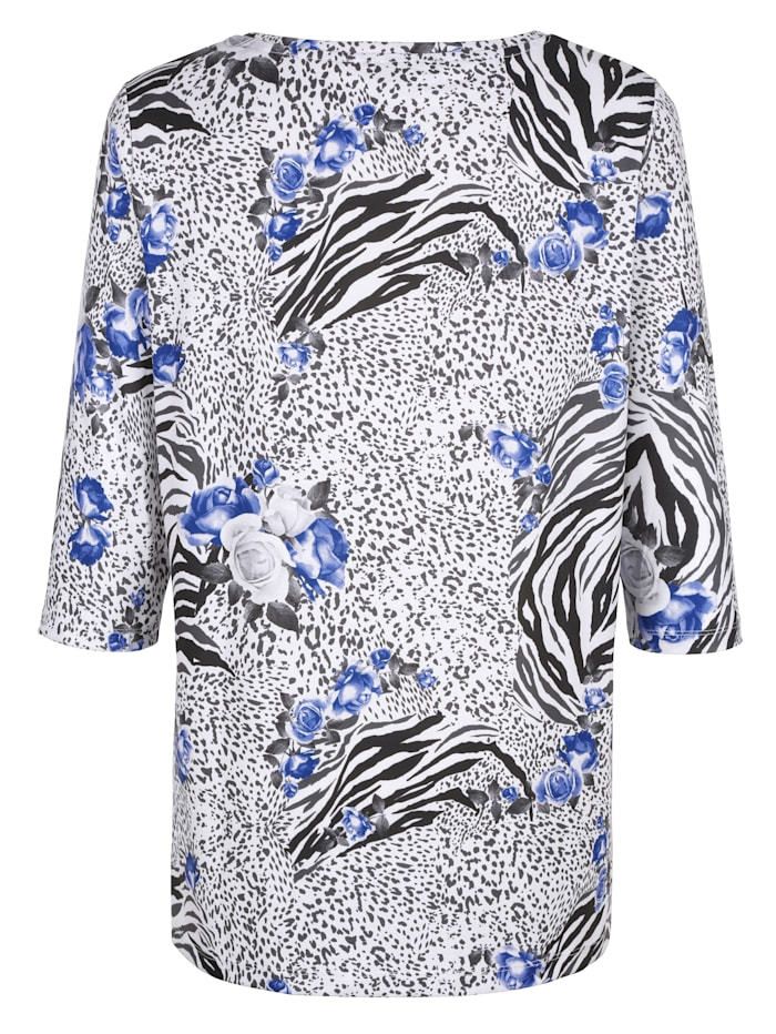 Shirt rundum mit Blumendruck