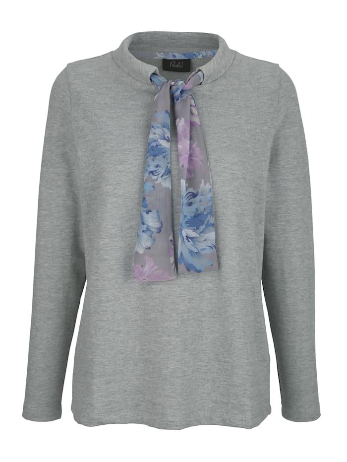 Sweat-shirt avec large bande à nouer imprimée