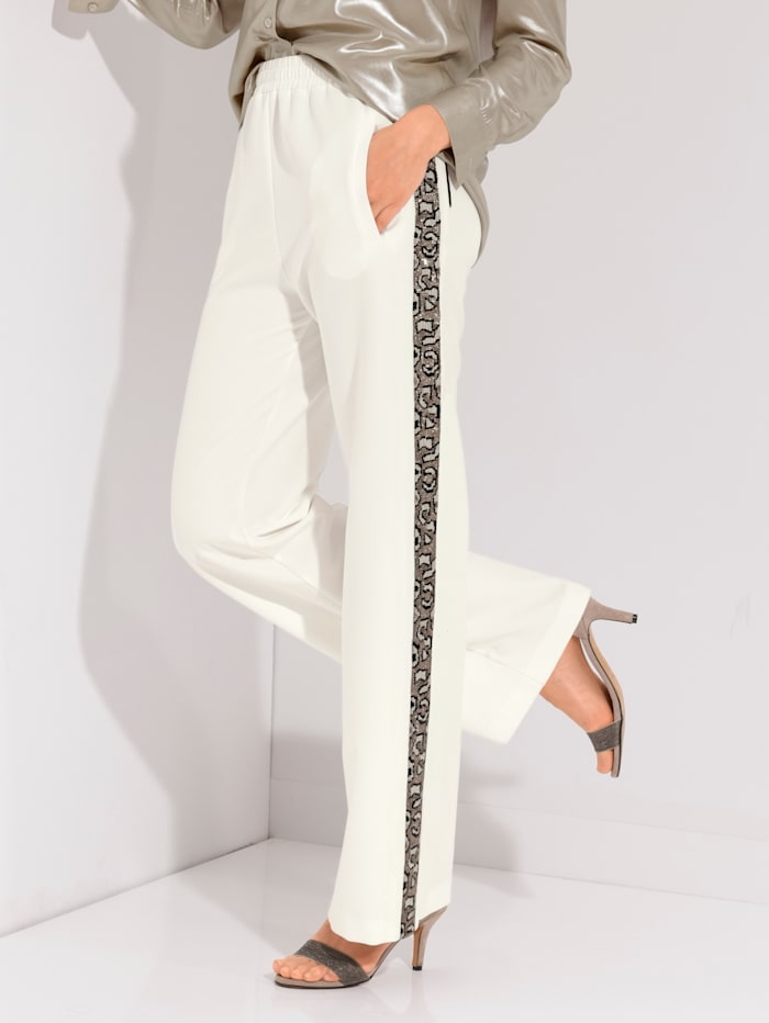 AMY VERMONT Hose im Joggpants Style, Ecru