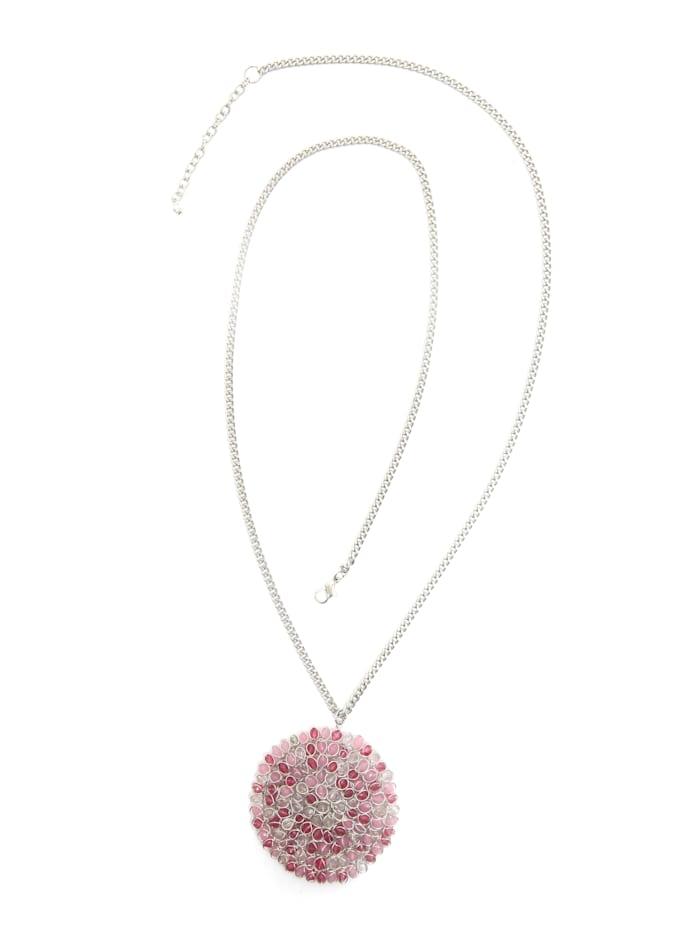 Collezione Alessandro Lange Kette Maria Kette mit Anhänger, rosa