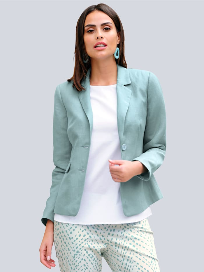 Alba Moda Blazer in sommerlicher Farbstellung, Mintgrün