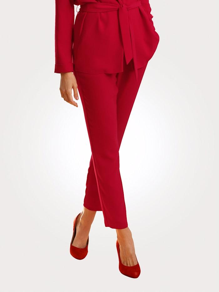 MONA Schlupfhose in modischer Farbgebung, Rot