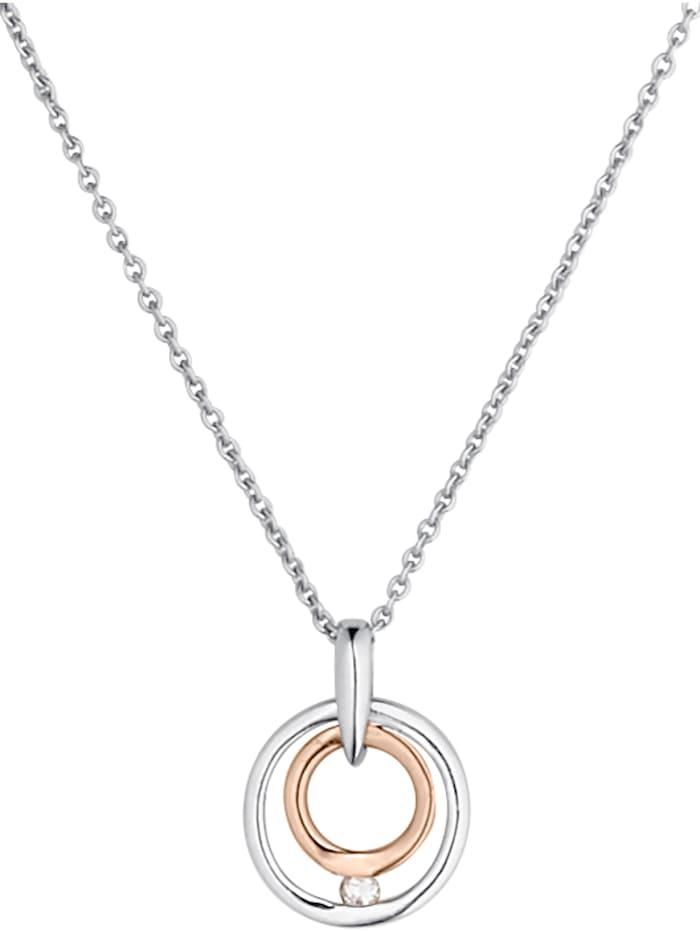 CHRIST C-Collection CHRIST Damen-Kette 333er Weißgold, 333er Roségold 1 Diamant, bicolor