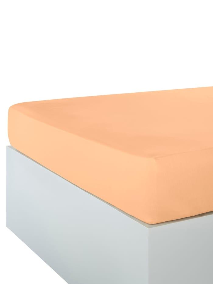 Webschatz Renforce Spannbetttuch, beige