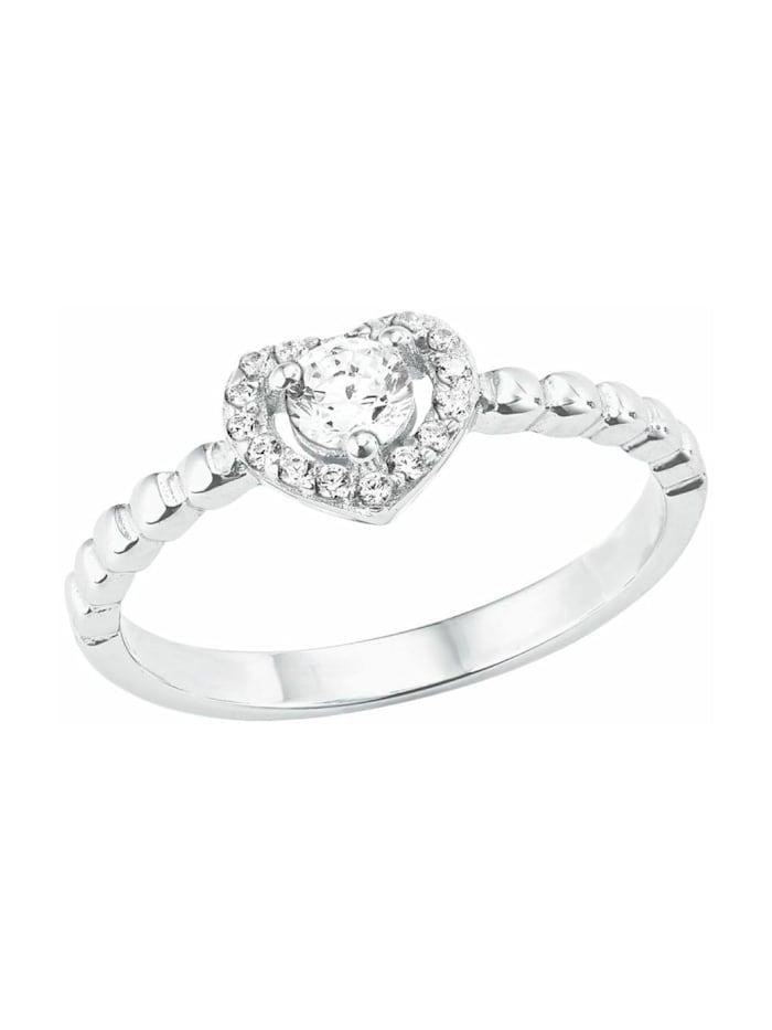 amor Ring für Damen, Sterling Silber 925, Zirkonia, Silber