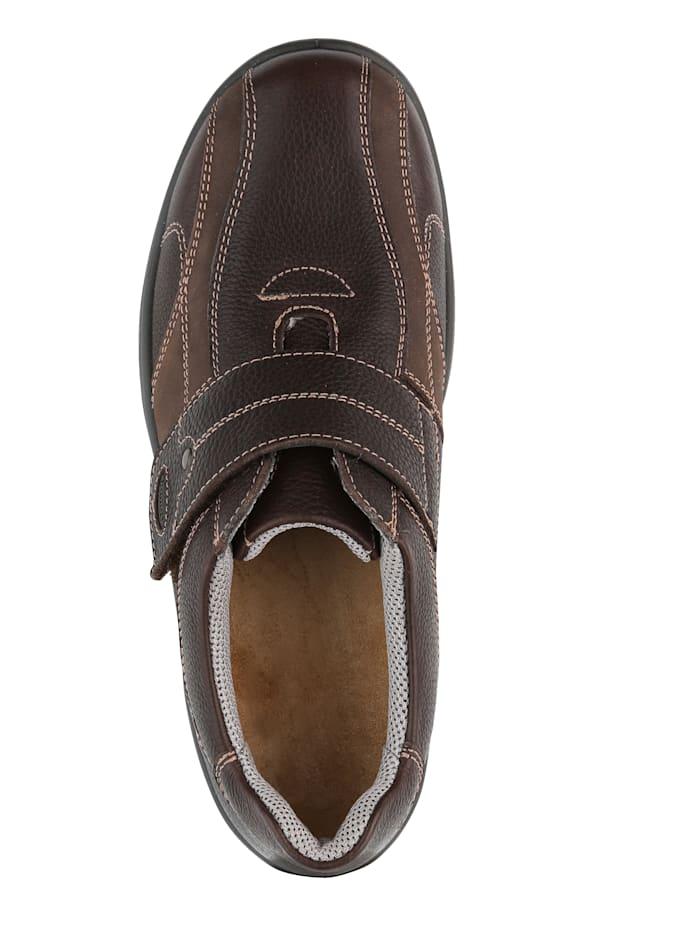 Slipper obuv s kontrastním ozdobným prošíváním