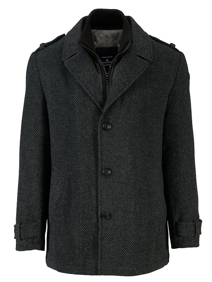Manteau court à bordure intérieure amovible