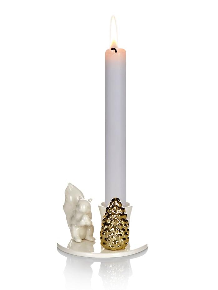 IMPRESSIONEN living Kerzenhalter, weiß/goldfarben