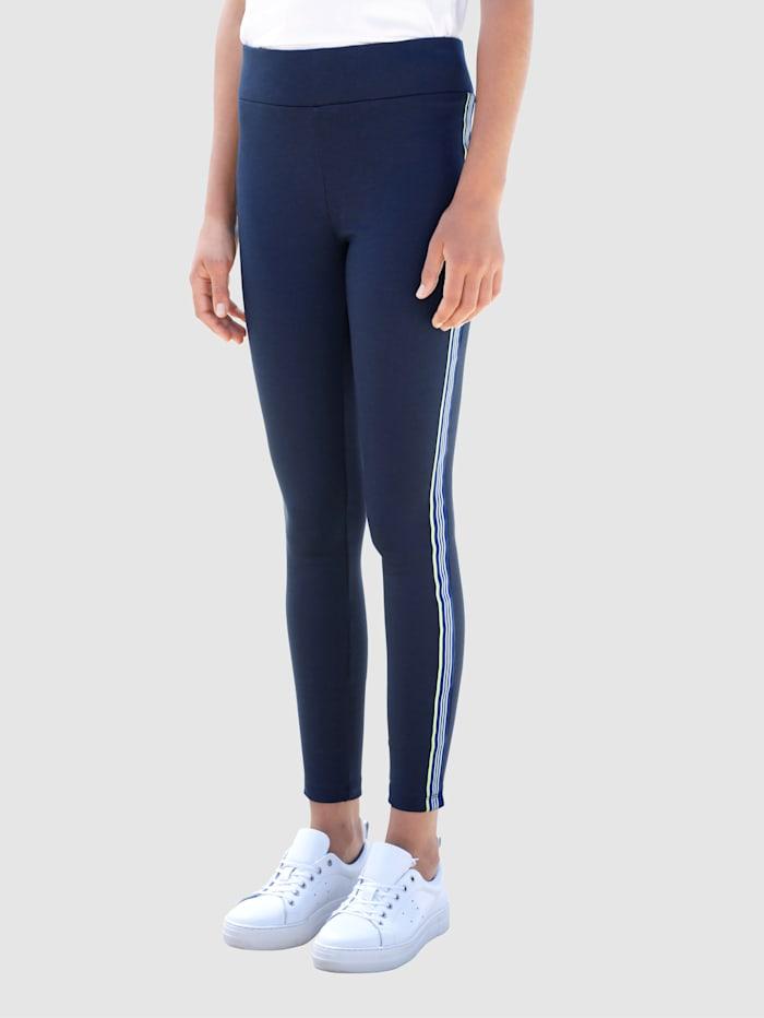 Dress In Hose mit schmalem Bein, Marineblau