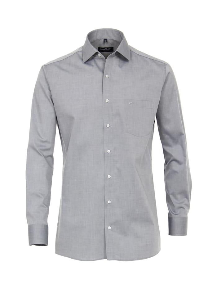 CASAMODA Hemd uni Modern Fit, Grau