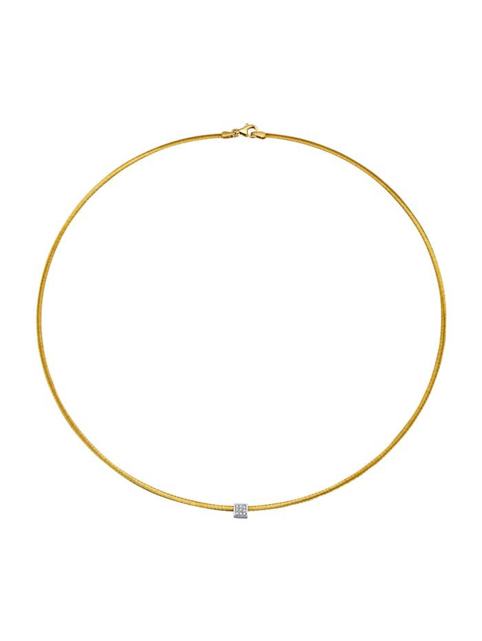 Diemer Diamant Collier mit Diamanten, Gelbgoldfarben