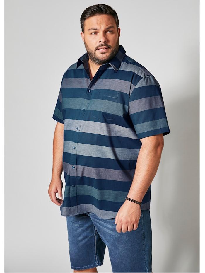 Kurzarmhemd mit modischem Streifendessign