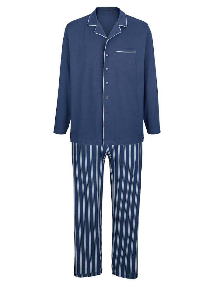 BABISTA Schlafanzug mit durchgeknöpftem Oberteil, 1x blau