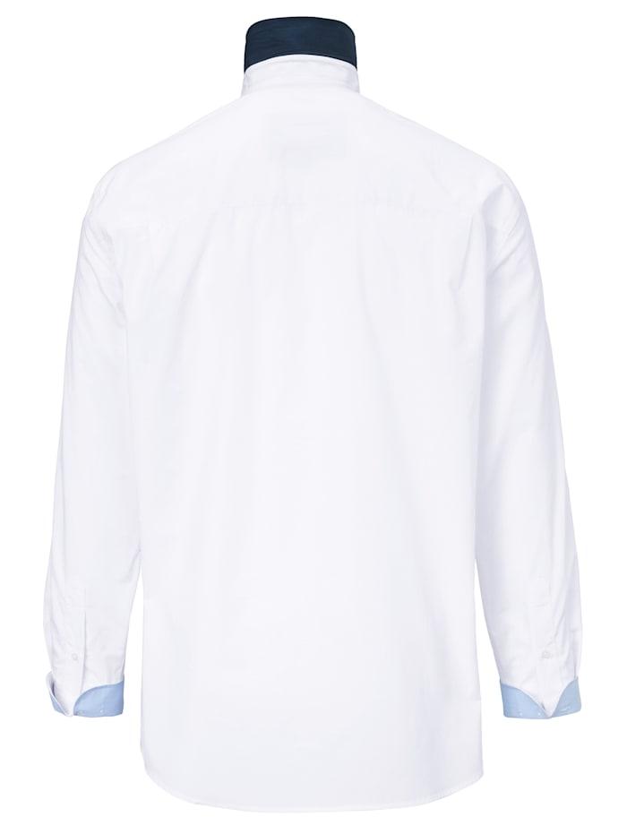Skjorte med dobbel button down-krage