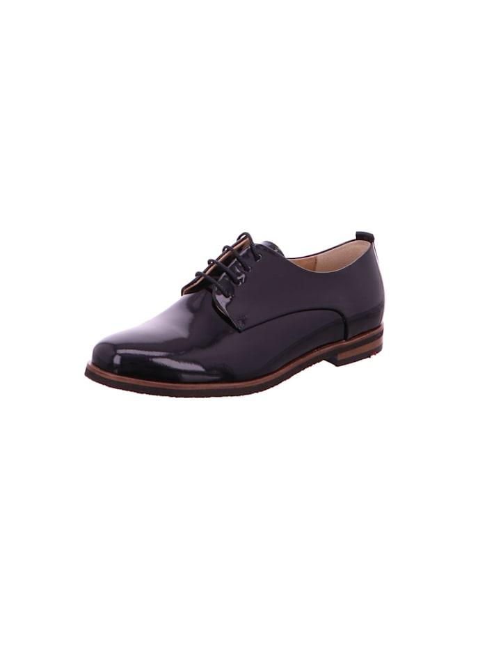 Lloyd Damen Schnürschuh in schwarz, schwarz