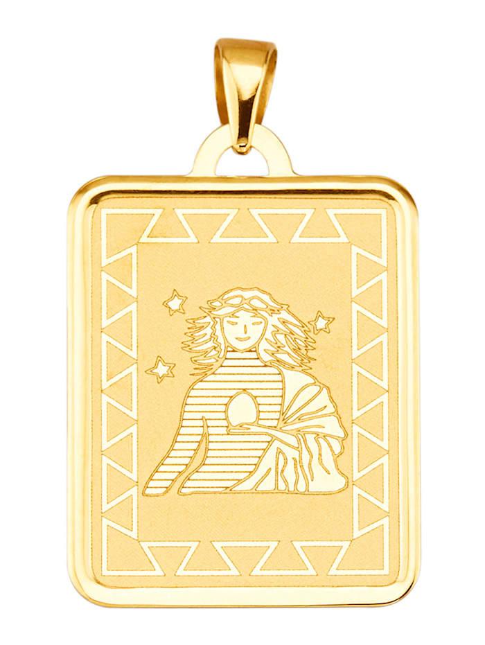 Sternzeichen-Anhänger Jungfrau in Gelbgold 375, Gelbgoldfarben