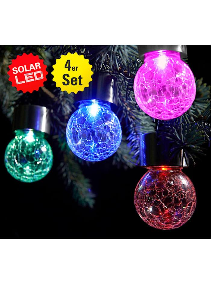 4 LED-lampor med solcellsdrift