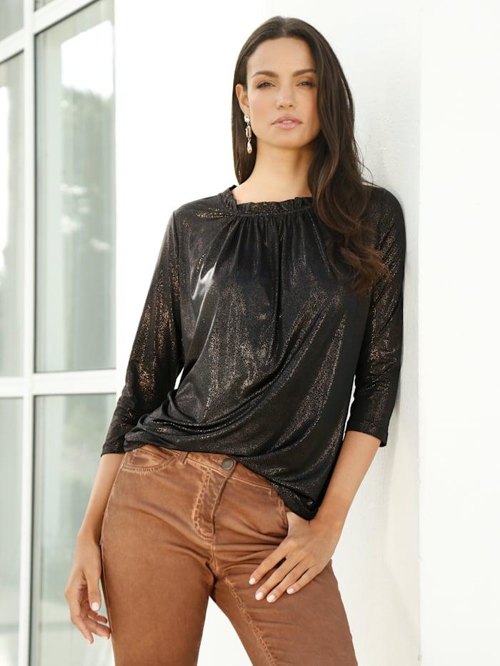 AMY VERMONT Shirt mit bronzefarbenem Schimmer, Bronzefarben