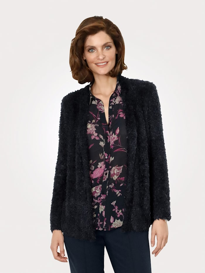 MONA Cardigan crafted from a plush fabric blend, Navy