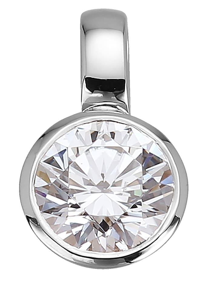 Diemer Solitär Valkokultainen timanttiriipus, Valkoinen