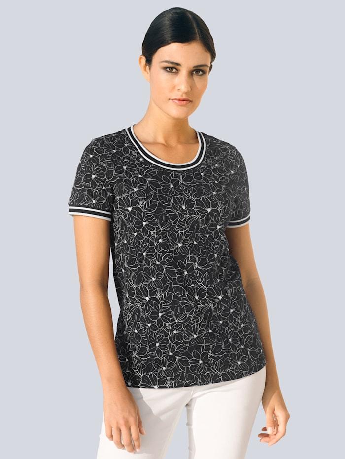 Alba Moda Shirt im exklusiven Alba Moda Print, Schwarz/Weiß