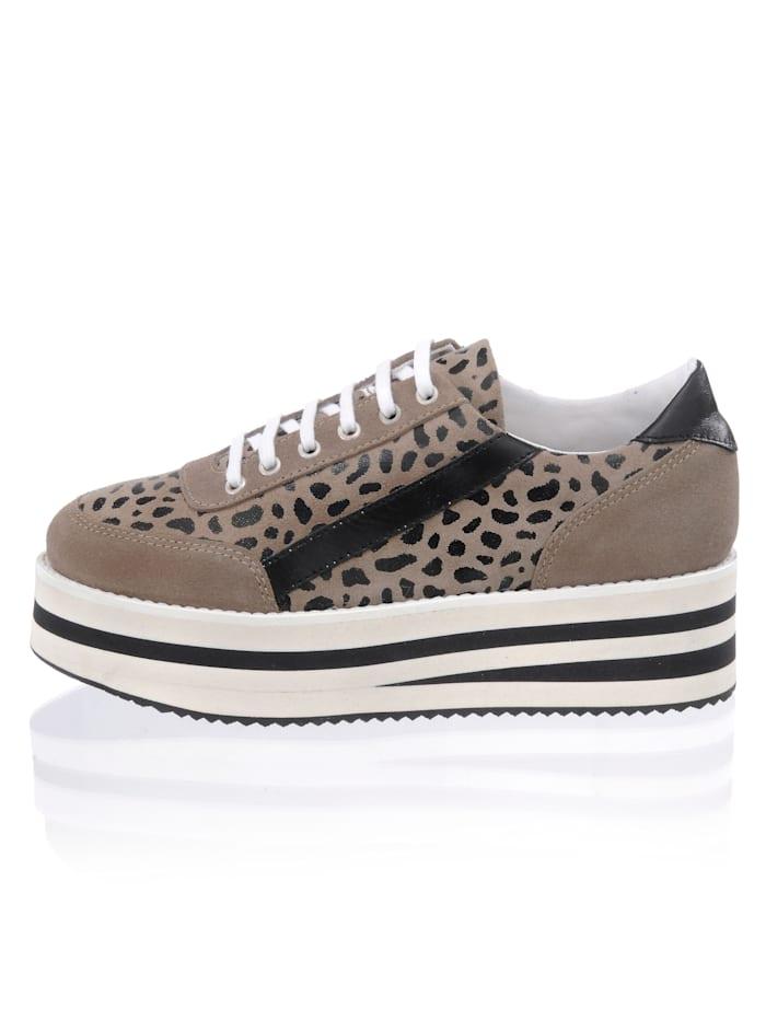 Alba Moda Sneaker mit trendaktueller Plateausohle, Taupe