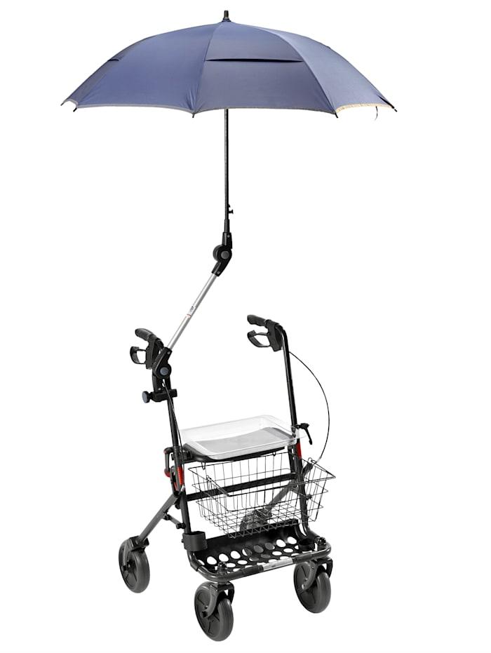 Rehaforum Parapluie pour déambulateur/chaise roulante, Bleu