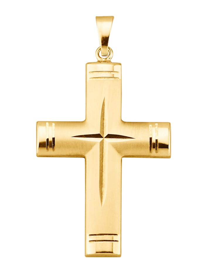 Pendentif croix, Coloris or jaune