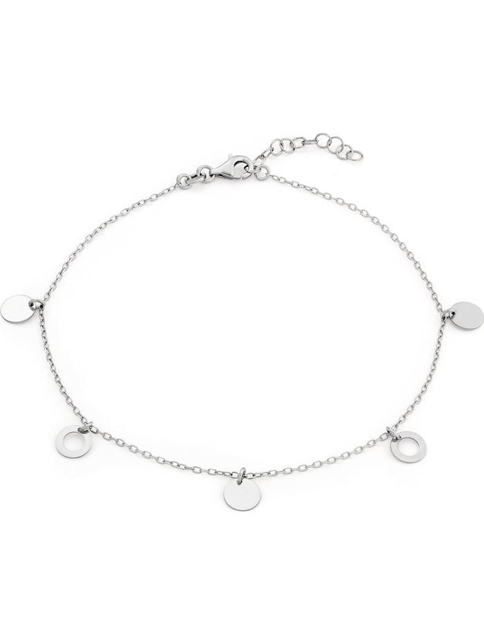 FAVS. FAVS Damen-Fußkette Kreis 925er Silber rhodiniert, silber