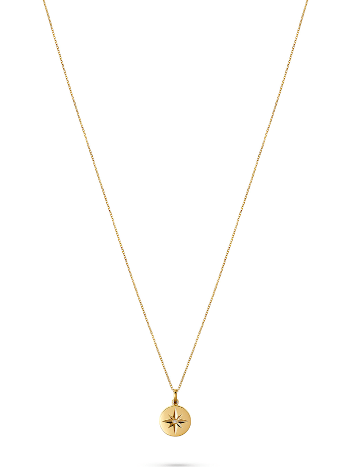 CHRIST C-Collection CHRIST Damen-Kette 375er Gelbgold 1 Diamant, gelbgold