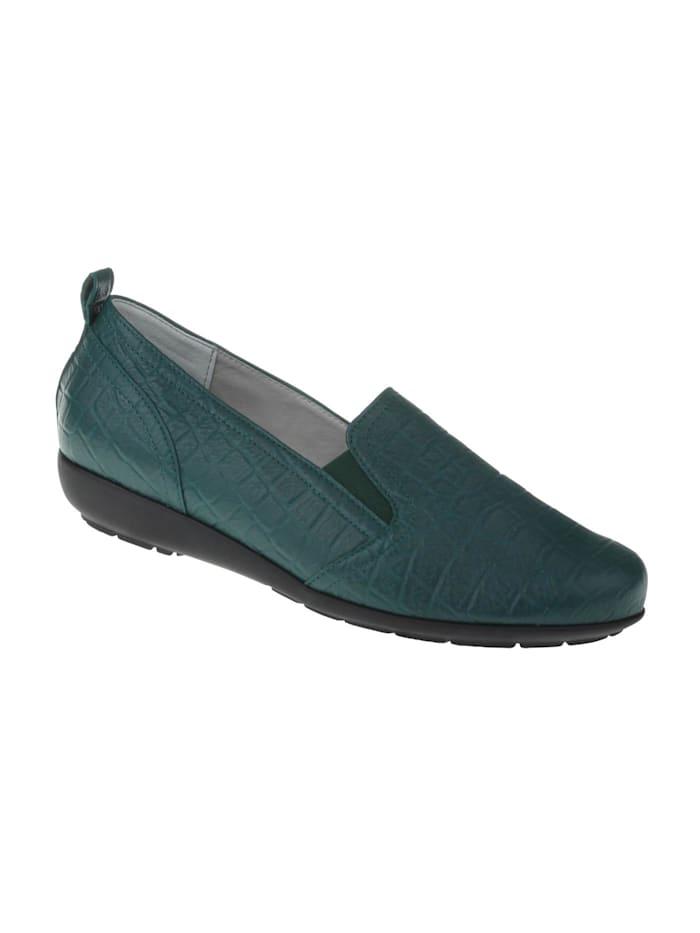 Natural feet Slipper Clea, dunkelgrün