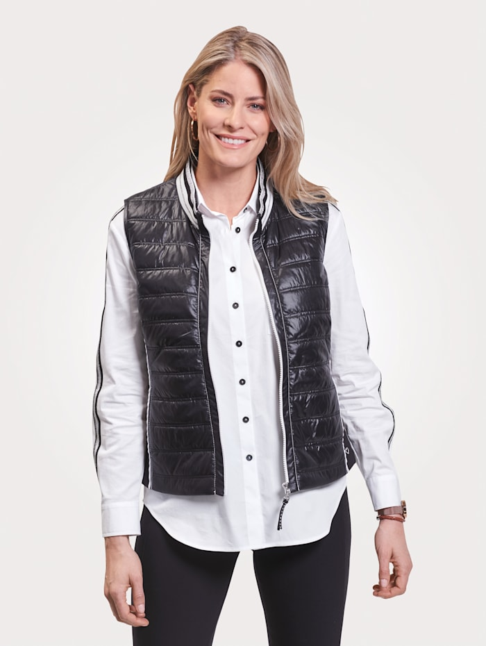 Just White Gilet, Black/White