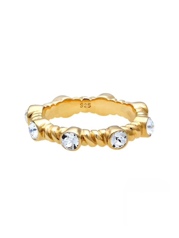 Ring Gedreht Infinity Swarovski® Kristalle 925 Silber