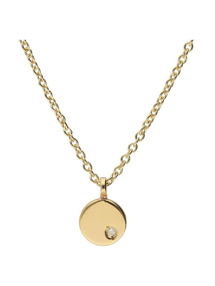 Luigi Merano Kette rund mit Diamant, Gold 585, Gelb