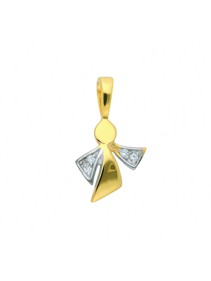 1001 Diamonds Damen Goldschmuck 333 Gold Anhänger Engel mit Zirkonia, gold